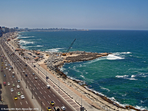 city beach alexandria egypt middleeast arab coptic... (Photo: Mark Alexander PhotoG on Flickr)